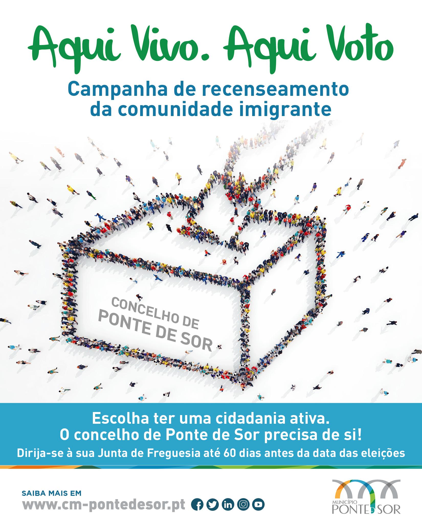 """""""Aqui Vivo. Aqui Voto"""" – Campanha de recenseamento da comunidade imigrante"""
