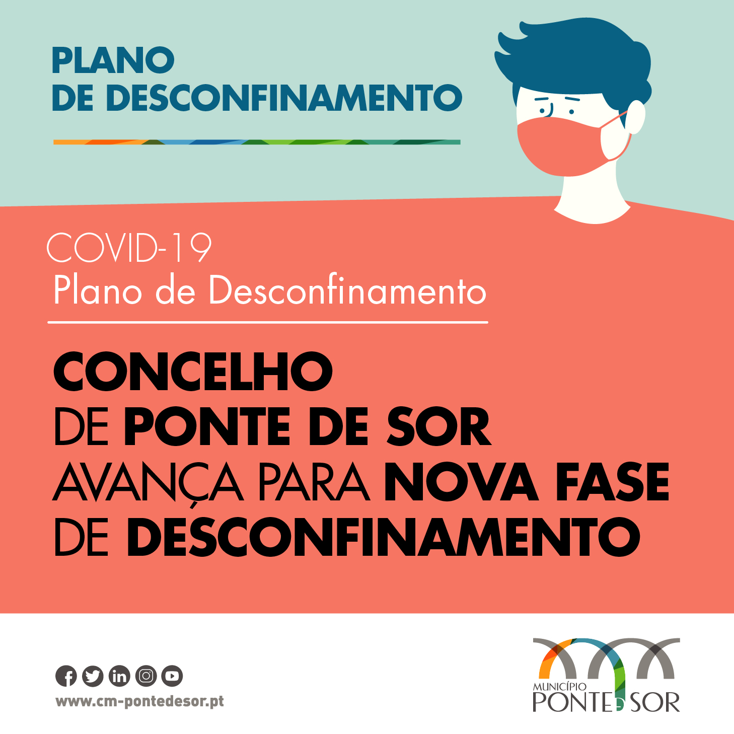 3ª Fase do Plano de Desconfinamento inicia-se amanhã!